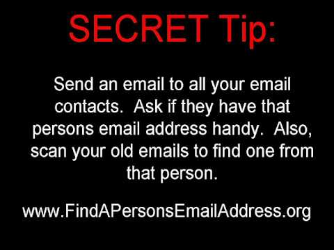 Find A Persons Email Address The Easy Way - Great Tips & Tr