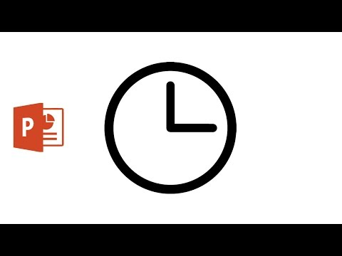 Draw Clock icon using Microsoft PowerPoint 2016