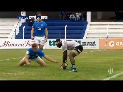 13 man Fiji Warriors run Emerging Italy ragged for try from 90 metres out