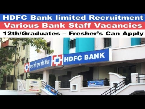 HDFC Bank limited Recruitment 2017 | Bank jobs in India | Latest Nov jobs