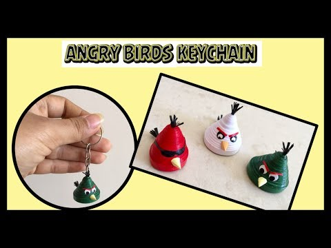 Quilling Angry Birds Keychain / DIY / Angry Birds Craft | Priti Sharma