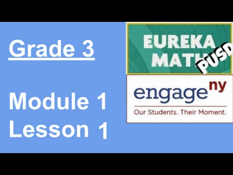 EngageNY Grade 3 Module 1 Lesson 1