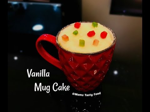 2 Minute Eggless Vanilla Mug Cake-Vanilla Mug Cake in Microwave - How to Make Vanilla Mug Cake
