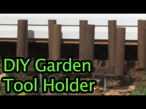 DIY Garden Tool Holder