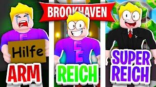 Von ARM zu REICH zu SUPER REICH in Brookhaven! 🤑 (Roblox Brookhaven 🏡RP | Story Deutsch)