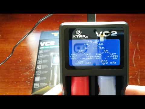 XTAR VC2 USB Li-ion Battery LCD Charger