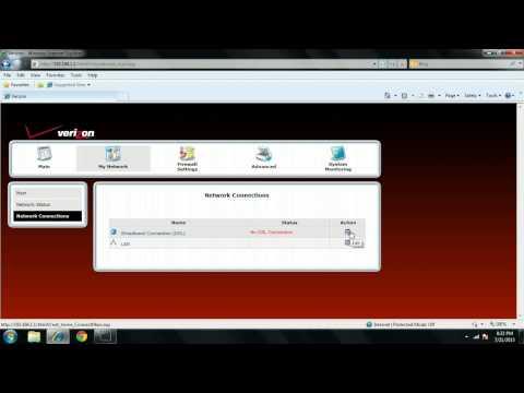 Verizon Modem Setup- Westell 6100g  - Part 1