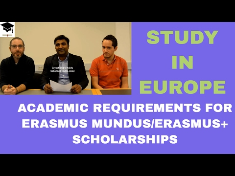 Academic Requirements to apply for Erasmus Scholarships, Study in Europe, Erasmus Masters