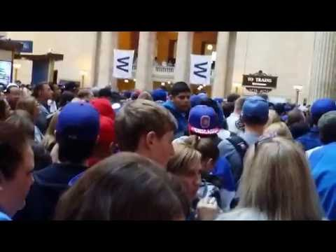 Chicago Union Station at standstill / Cubs 2016 World Series Parade Day
