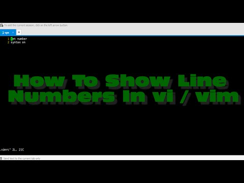 How To Show Line Numbers In vi / vim