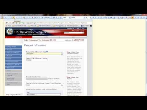 How to Fill DS-160 form.  STEP BY STEP Instructions EASY !!