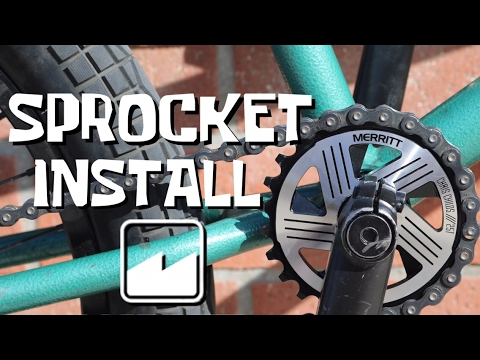 Sprocket install - BMX FOR BEGINNERS