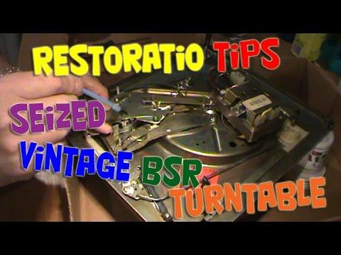 Restoration tips for seized vintage BSR turntable