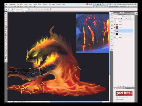 Create a Lava Monster Concept in Photoshop