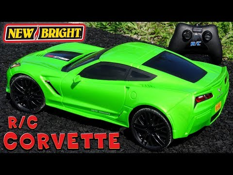 Unboxing + Test Drive $15 Remote Control CORVETTE Z06 R/C cars ~Toys R Us Clearance Sale