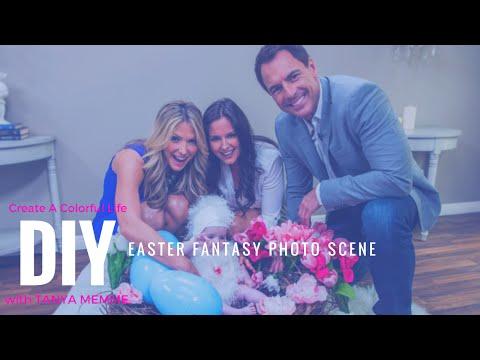 DIY Easter Fantasy Photo Scene