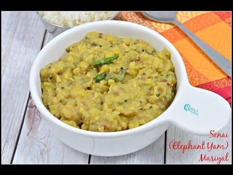 Senai Masiyal   Elephant Yam Masiyal   Easy Indian Stew using Yam