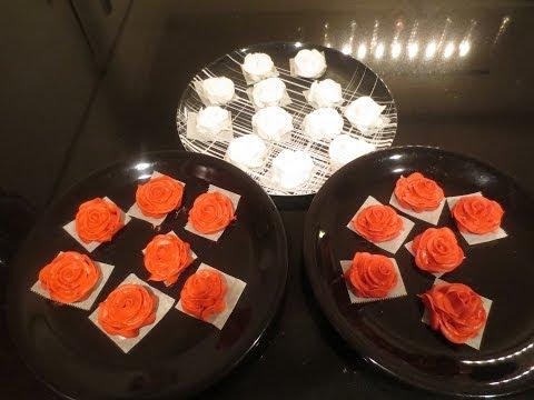 How I make  Wilton's royal icing rose