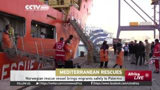Norwegian rescue vessel brings migrants safely to Palermo