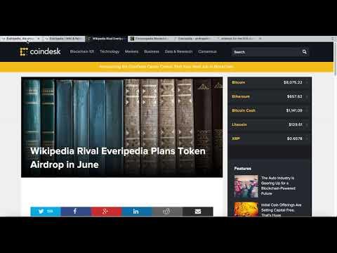 Everipedia $ EOS Airdrop - First online encyclopedia on $EOS blockchain | IQ Token Airdrop