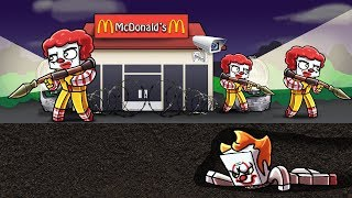 Minecraft | PENNYWISE SNEAKS INTO MCDONALDS! (Mcdonalds Secure Base)