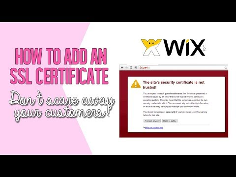 HOW TO ADD AN SSL CERTIFICATE IN WIX WEBSITES