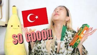 TRYING TURKISH SNACKS 🇹🇷| Euodias