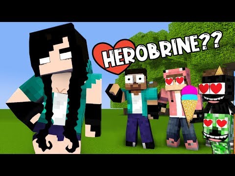 MONSTER SCHOOL : MONSTER BECAME GIRLS - HEROBRINE BECAME PRETTY GIRL (FUNNY ANIMATION)