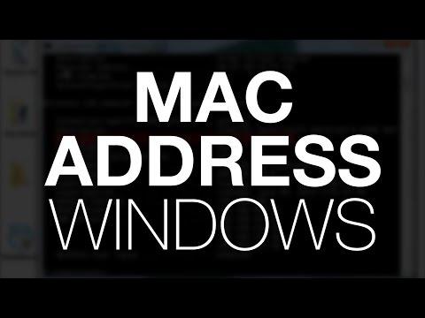 MAC Address - Windows