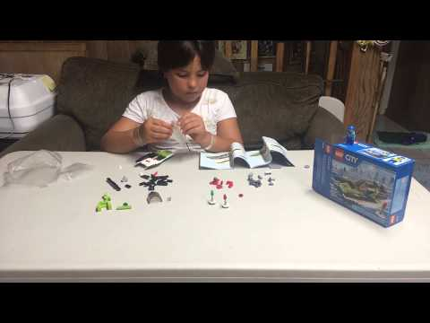 Alison's $10 toy test. Lego city speed boat.