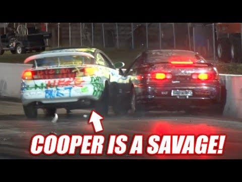 Cooper vs. Boostedboiz Demolition Drag Racing - Cleetus and Cars 2018
