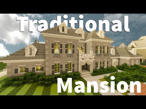 Modern Traditional Mansion Tour in Minecraft
