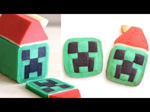 Minecraft Creeper Cookies Slice & Bake! 크리퍼쿠키