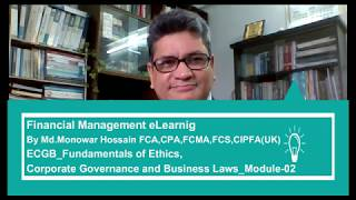 Business Ethics, Corporate Governance, and Business Laws_Module-02