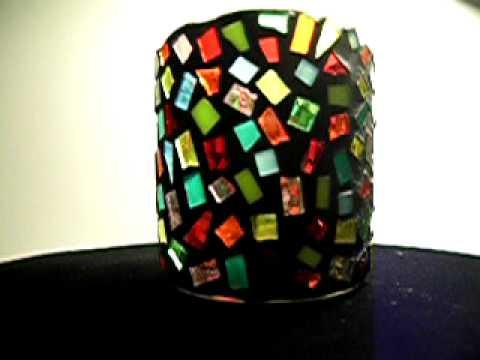 Confetti Mosaic Candle Holder