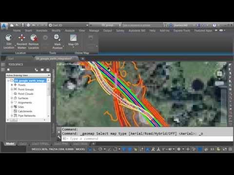 Civil 3D Bing Maps & Google Earth Integration