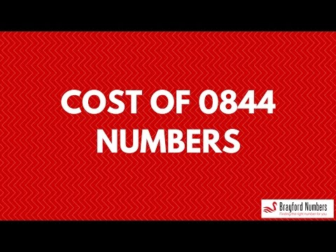 0844 numbers cost