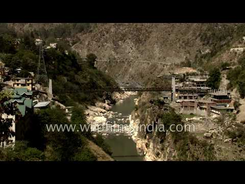 Satluj river flows through Rampur, Himachal Pradesh