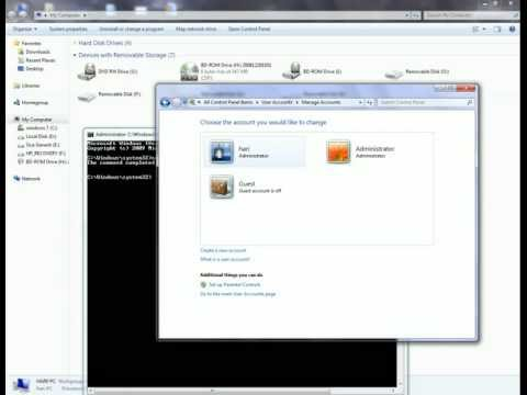 Enable Hidden administrator account in Windows 7 through Command prompt