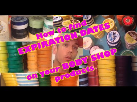 The Body Shop Expiration Dates Revealed!  How to find them!