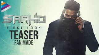Saaho First Look Motion Teaser | #SaahoFirstLook | Prabhas | Shraddha Kapoor | Fan Made | #Saaho