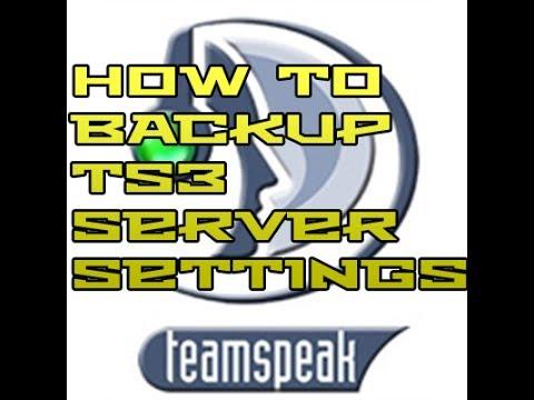 Tutorial: How to Backup Teamspeak 3 Server Settings.