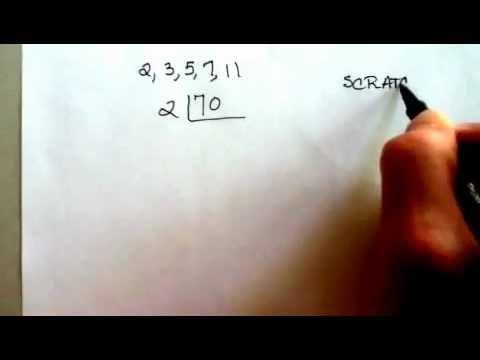 Prime Factorization - The Ladder Method