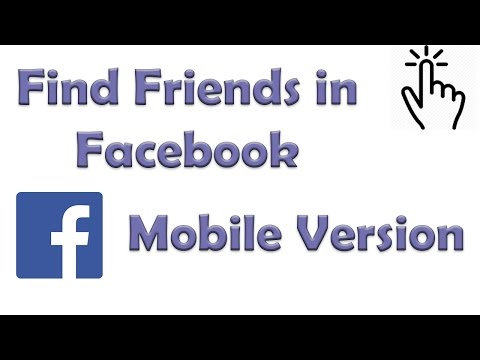 How to Find Friends in Facebook | Facebook Mobile App