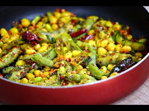 Broad beans Fry - easy and quick Indian broad beans fry recipe
