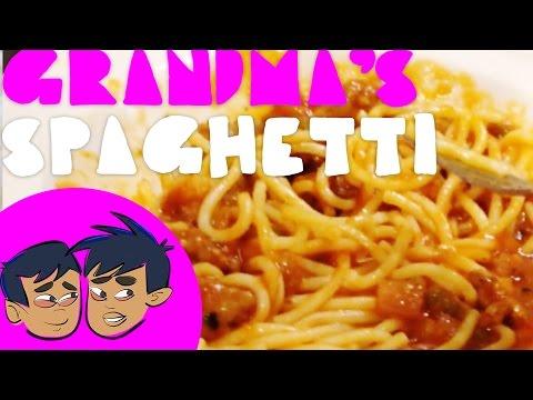 Making Grandma's Spaghetti