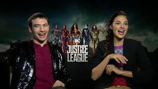 Gal Gadot & Ezra Miller on deleted JUSTICE LEAGUE scenes, Flash
