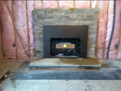 REAL STONE VENEER Fireplace Reface