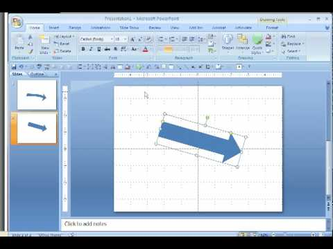 Make a Curved Arrow in PowerPoint