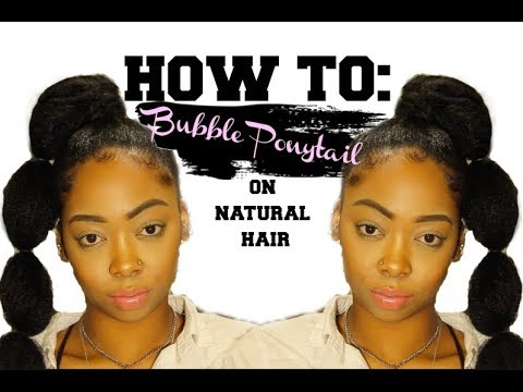 HOW TO: BUBBLE PONYTAIL WITH MARLEY HAIR ( SHORT NATURAL HAIR)